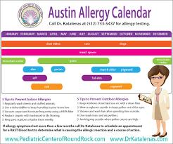 Austin Allergy Season Chart Austin Allergy Calendar 1800forbail