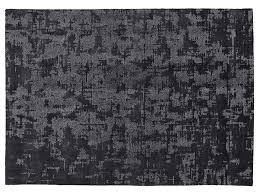 istos dark grey botanical silk rug