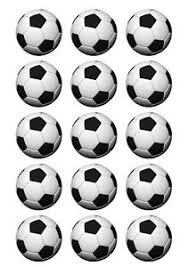 Soccer Ball Icing Decorations 100 SOCCER BALL EDIBLE PRECUT ICING CUPCAKE CUP CAKE DECORATION 12