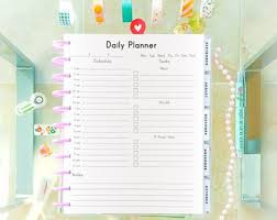 Daily Checklist Planner Daily Planner Etsy