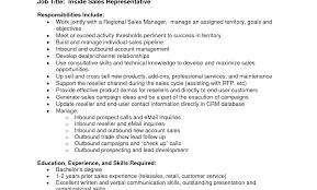 Amazing Sales Representative Responsibilities Resume Image