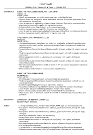 Network Specialist Resume Supply Network Specialist Resume Samples Velvet Jobs 1