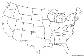 Us Map Coloring Page Diywordpressme
