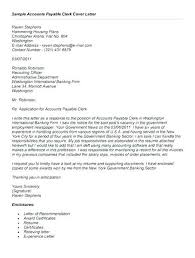 Accounting Clerk Cover Letter Cover Letter Example For Accounting Sample Cover Letter For