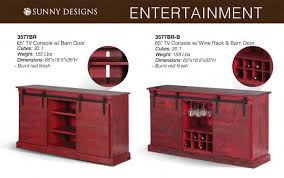 PRICES • Sunny Designs Burnt Red TV Furniture • Al s Woodcraft