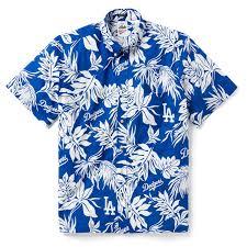 Reyn Spooner Size Chart Reyn Spooner Aloha Mlb La Dodgers Camp Shirt Blue Free Shipping