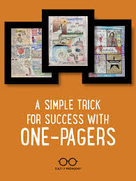 A Simple Trick For Success With One Pagers Cult Of Pedagogy