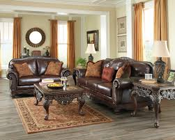 North Shore Plus Leather Coffee Sofa & Loveseat