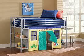 bunk bed with play area under unique hilale universal junior loft bed w desk 1178jrlbds