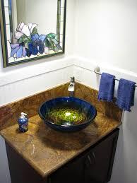 true planet glass sink bowl tropical bathroom