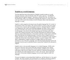 Essay About Learning English Language Essay English Language World