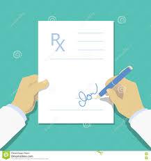 Rx Pad Design Medical Prescription Pad Flat Design Style Rx Form Stock