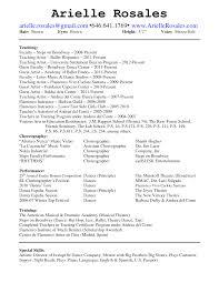 Dance Instructor Resume Objective Camelotarticles Com