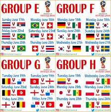 World Cup Chart Pdf World Cup 2018 Group Stage Seoul Kst Kick Off Times