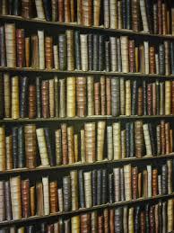 Decorpassion Bookshelf wallpaper is less than $20 a roll