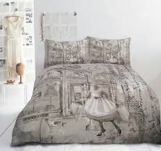 paris themed duvet cover