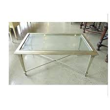 silver metal coffee table silver leaf metal coffee table w beveled glass 42125x19x26 square silver metal