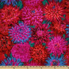 Kaffe Fassett Collective 2012 Cactus Dahlias Red - Discount ... & Kaffe Fassett Collective 2012 Cactus Dahlias Red - Discount Designer Fabric  - Fabric.com Adamdwight.com