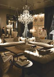 Restoration Hardware Kitchen Lighting I Like The 3 Sofa Look In This Room With A Big Square Table In The