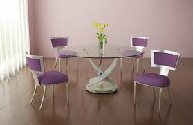 round glass dining table. Reef Contemporary Round Glass Dining Table From Elite Manufacturing