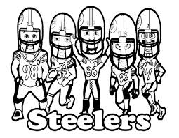 Small Picture NFL Football Steelers Coloring Page Kids Coloring Pages