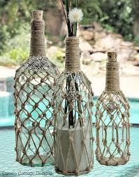 Roped decorative bottles