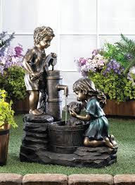 outdoor garden fountain. Doggy Wash Outdoor Water Fountain For Garden Decor