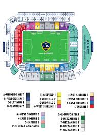 Cellular Park Seating Chart Seating Map La Galaxy