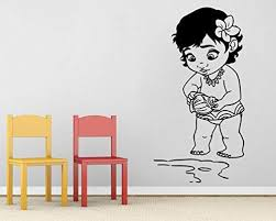 advancedecal baby moana wall decal