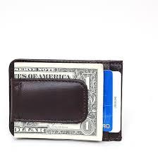 mens leather money clip slim front pocket wallet magnetic id credit card holder com