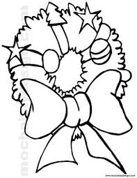 Small Picture Printable Christmas Puffy Wreath Coloring Page MochaBayDesigncom