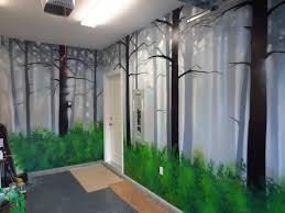 On The Wall Painting How To Paint A Misty Forest Mural Using Spray Paint Youtube