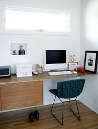 office floating desk small.  office office with bertoia chair floating desk and red slimline phone to desk small