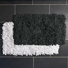 gallery of black bath rugs rug runner modern bathroom mat blue burdy mats rsrs unusual valuable 7