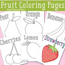 Small Picture Fruit Coloring Pages Free Printable Easy Peasy and Fun