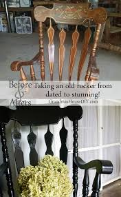 Black Painted Rocking Chair goes from dated to stunning   Painted ...