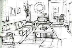 one point perspective drawing living room - Google Search | Ideas |  Pinterest | Perspective drawing, Perspective and Drawings
