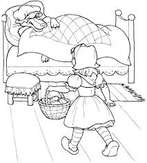 Small Picture Little Red Riding Hood A Little Kid Coloring Sheet Coloring