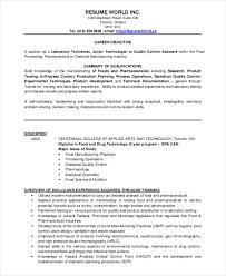 Resume Template Microbiology Resume Samples Free Career Resume