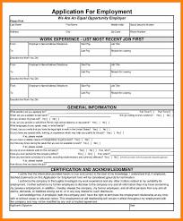 Generic Blank Job Application 8 Generic Employment Application Form Pdf Plastic Mouldings
