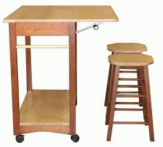 ... Drop Leaf. Interior. Kitchen Furnishing Design And Decoration Using  Folding Solid Oak Wood Wheel Kitchen Island With