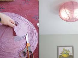 office ceiling light covers. DIY Flush Mount Light Cover | Mounted Paper Ceiling Shade Office Covers