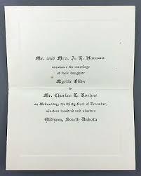 1919 Wedding Announcement Myrtle Hanson Koehne Oldham South Dakota Marriage  | eBay