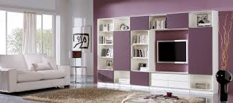 Purple Living Room Furniture Furniture Impressed Family Room And Creative Led Tv Fixed In