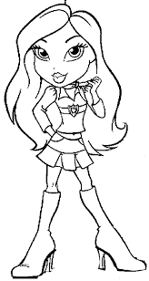 Small Picture Bratz Coloring Pages 2 Dibujos clipartetc Pinterest Adult