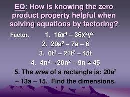 eq how is knowing the zero property helpful when solving equations