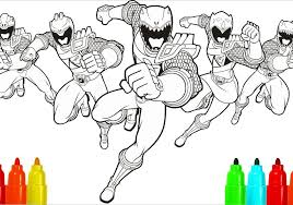 Power Rangers Colouring Sheets Pictures Megaforce Coloring Pages