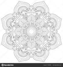 Mandala Bloem Vector Kleurplaten Voor Volwassenen Stockvector