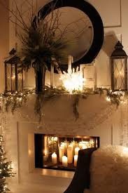 Fireplace decorating idea with mirror 5 - and candles and lanterns