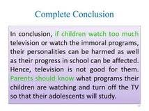 negative effects of television essay determination of negative effects of television essay